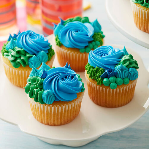 Ideas For Decorating Cupcakes: Happy Earth Day Cupcakes