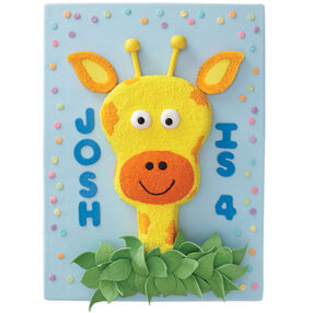 Jolly Giraffe Birthday Cake for Kids