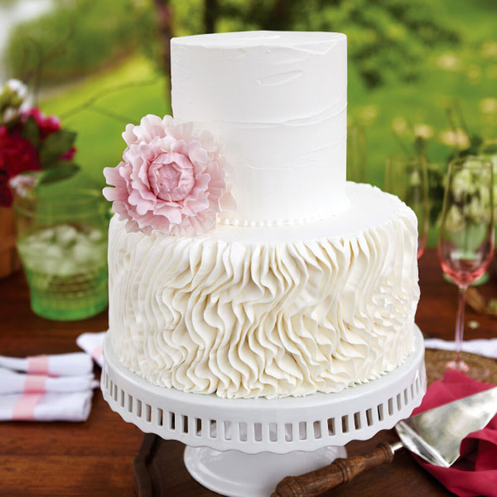 wilton wedding cake frosting recipes peony crepe wedding cake wilton 27519