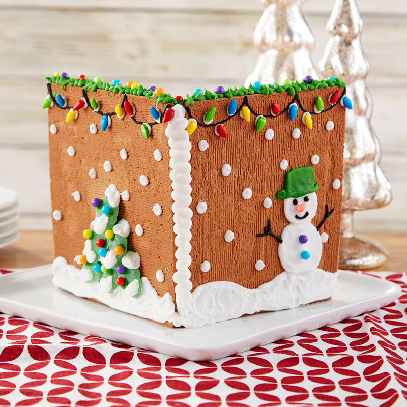 Cozy Fireplace Gingerbread Scene image number 1