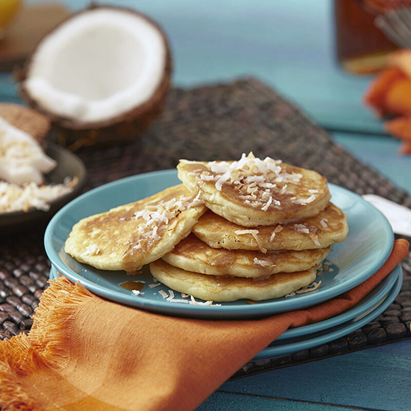 Coconut Caramel Pancakes image number 0