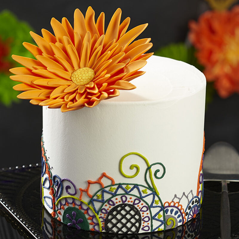 Statement Flower Halloween Cake image number 0