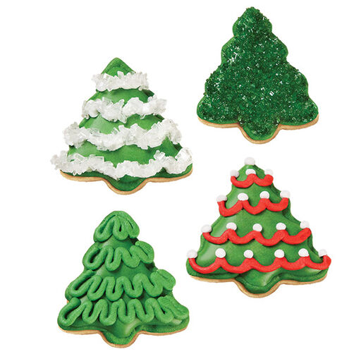 Images. A Grove of Christmas Tree Cookies