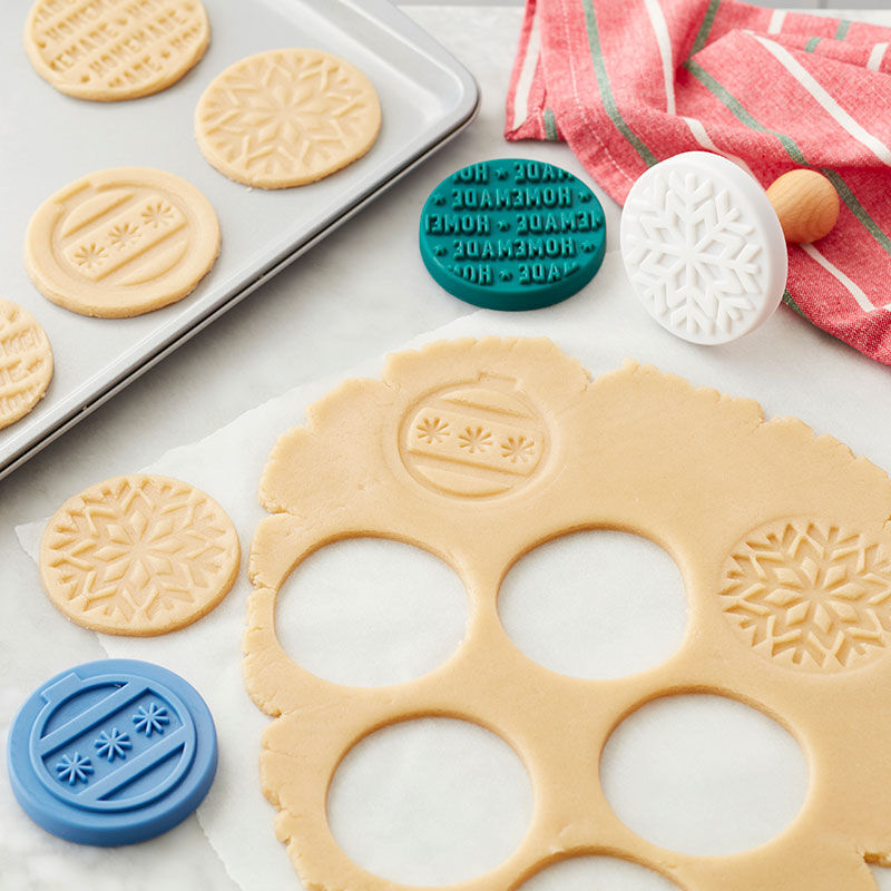 Stamped Cookies Recipe - Easily decorate cookies using the embossed cookie stamps image number 0