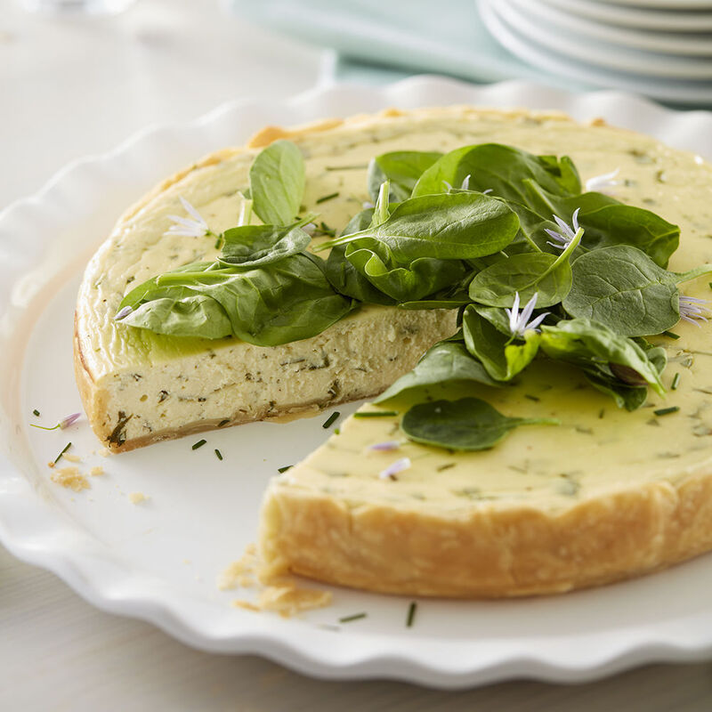 Goat Cheese Spinach and Chive Tart Recipe image number 0