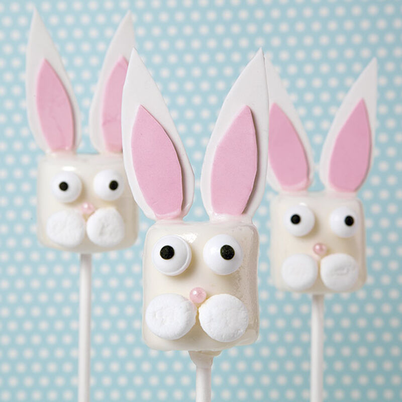 Candy-Dipped Bunny Marshmallow Pops image number 0