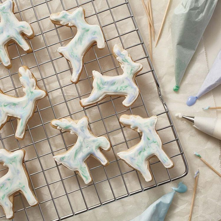 Christmas Reindeer Cut Out Sugar Cookies with Hard Icing