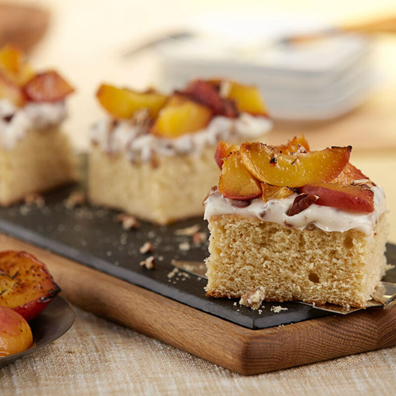 Grilled Peach Cake image number 1