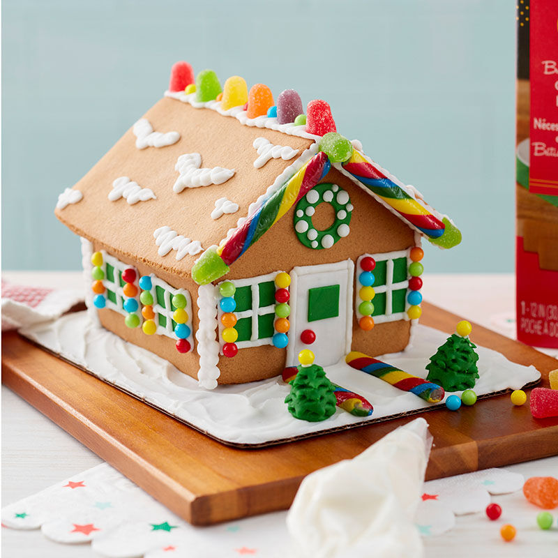 Assembled and Decorated Gingerbread House