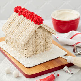 Knit Me a Cozy Gingerbread House