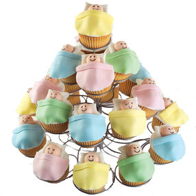 High Rise Baby Shower Cupcakes