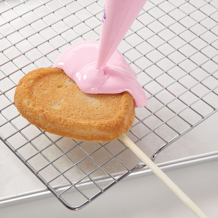 Pouring Thinned Icing or Candy Melts over Pops