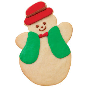 Keepin' it Warm Snowman Cookie