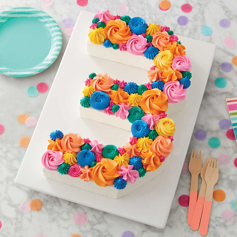 Cool Number 3 Birthday Cake Wilton Personalised Birthday Cards Paralily Jamesorg