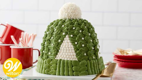 How to Make a Rosanna Pansino Knit Hat Cake