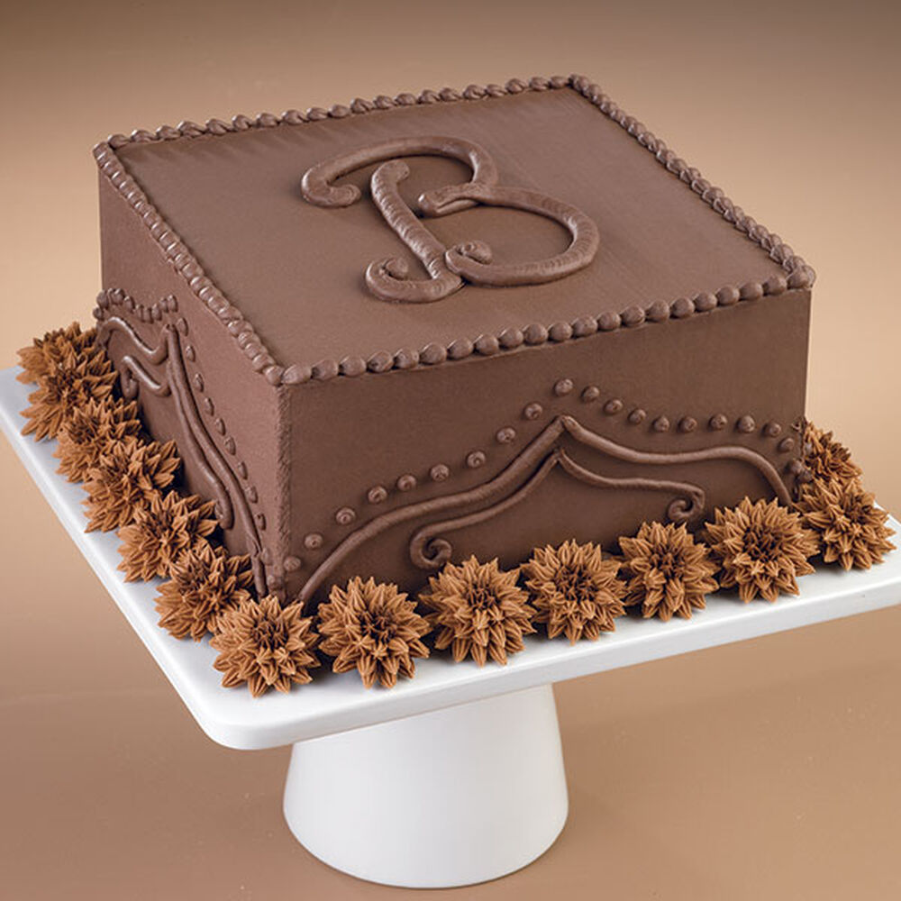 Add A Chocolate Monogram Cake Wilton