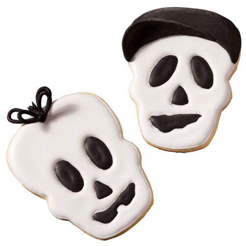 Sophisticated Skull Halloween Cookies