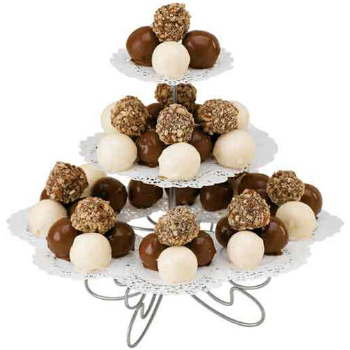 Truffles on Cupcake Stand