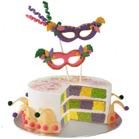 It's A Mardi Gras Celebration Cake