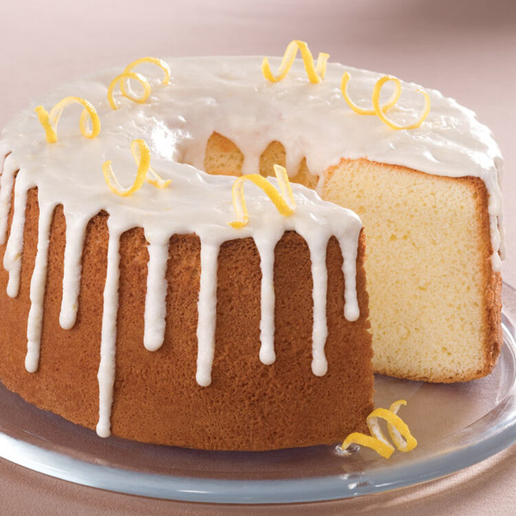 Glazed Lemon Chiffon Cake