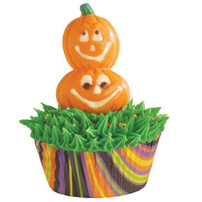 Double Pumpkin Head Cupcake