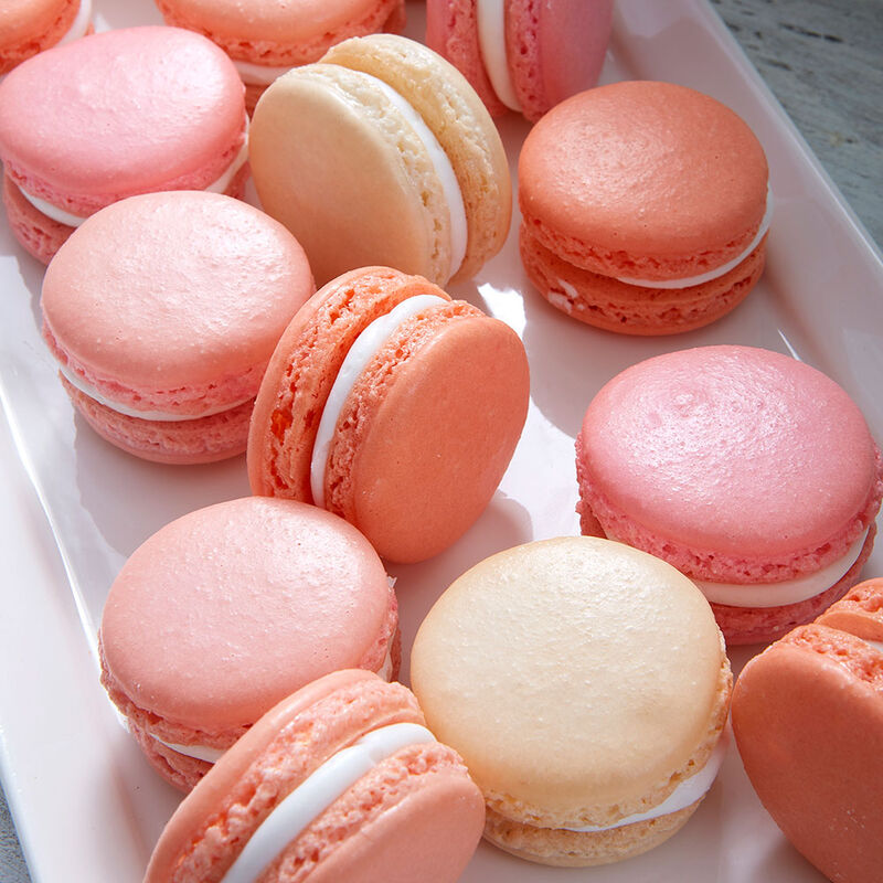 Pink and Coral Macarons image number 0