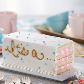 It's a…Gender Reveal Cake