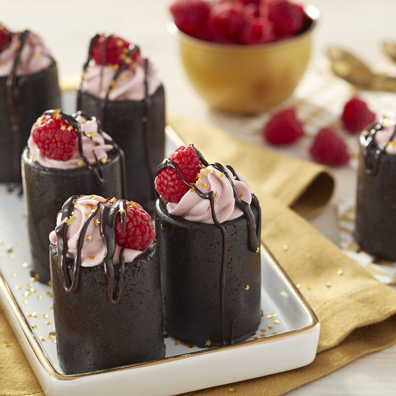 No Bake Chocolate Raspberry Cheesecake Shots Recipe image number 1
