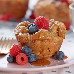 Jumbo Cheesecake-Stuffed French Toast Muffins