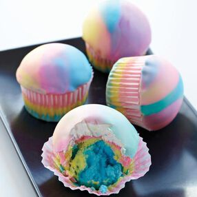 Tie Dye Cupcakes