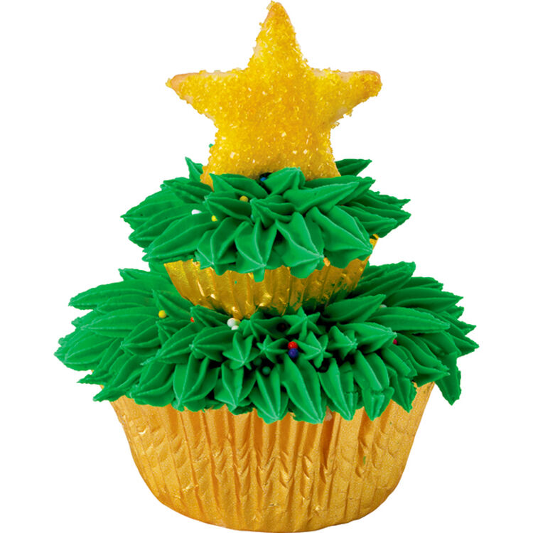 Two-Tiered Tree Cupcakes