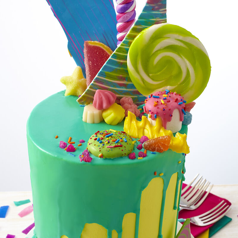 Bold & Bright Candy Explosion Cake image number 0