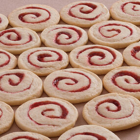 Raspberry Spirals Cookies