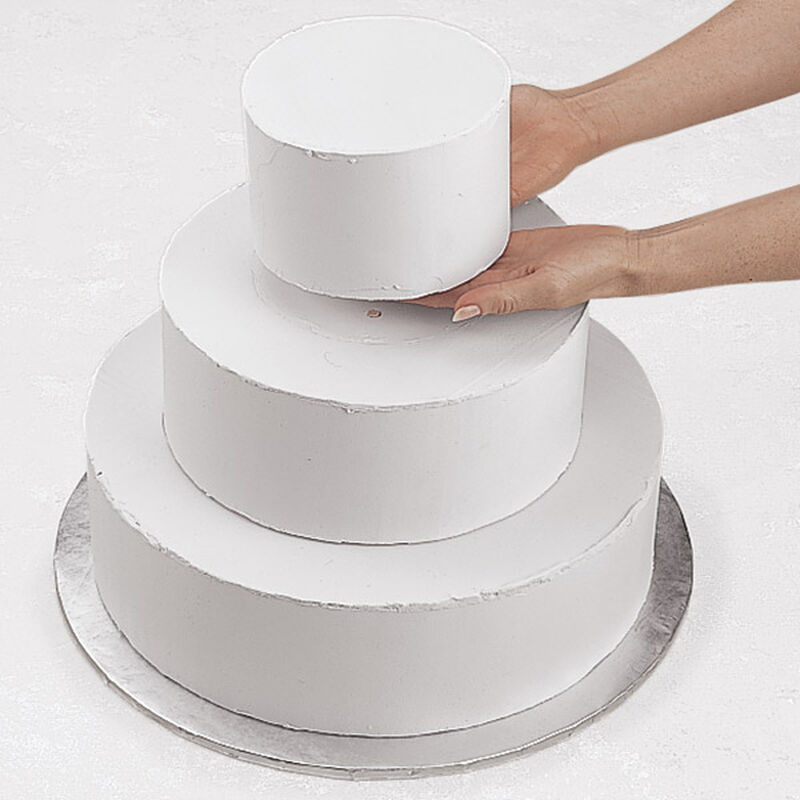 Stacked Tiered Cake Construction image number 0