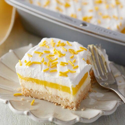 Lemon Lush with Coconut and Macadamia Nut Crust