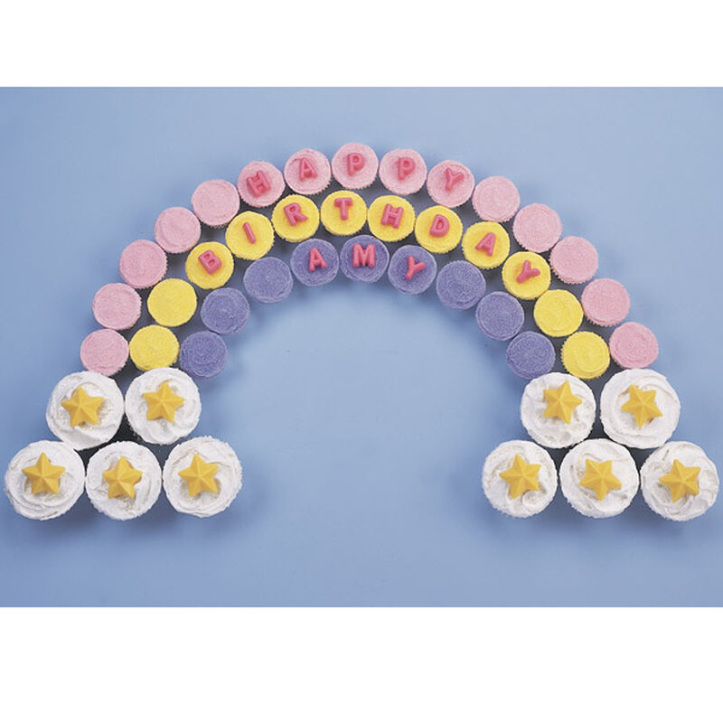 A Rainbow of Good Wishes Cupcakes image number 0