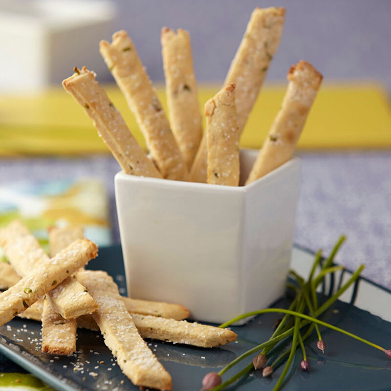 Goat Cheese & Chive Straws image number 1