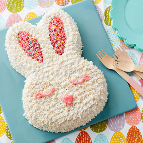 Bunny Face Easter Cake