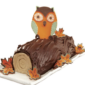 Whoo Loves Fall Log Cake