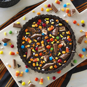Halloween Candy Ganache Tart Recipe