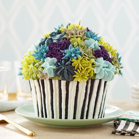 Floral Giant Cupcake Cake