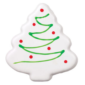 White Christmas Tree Cookie