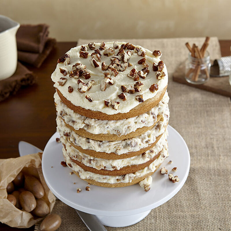 Spice Cake with Mascarpone and Candied Pecans image number 0