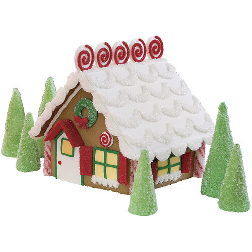 Curls & Swirls Classic Gingerbread House