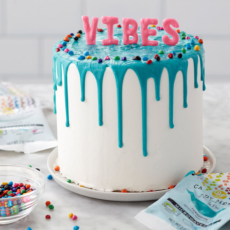 Sweet Vibes in a Snap Cake -Easy Cake Decorating