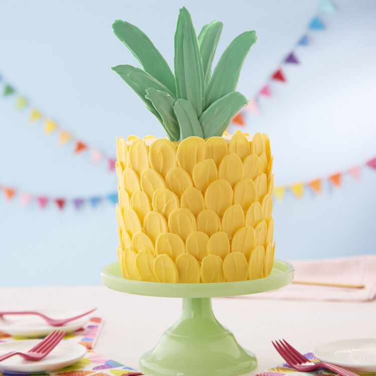 Pineapple Shaped Cake Wilton