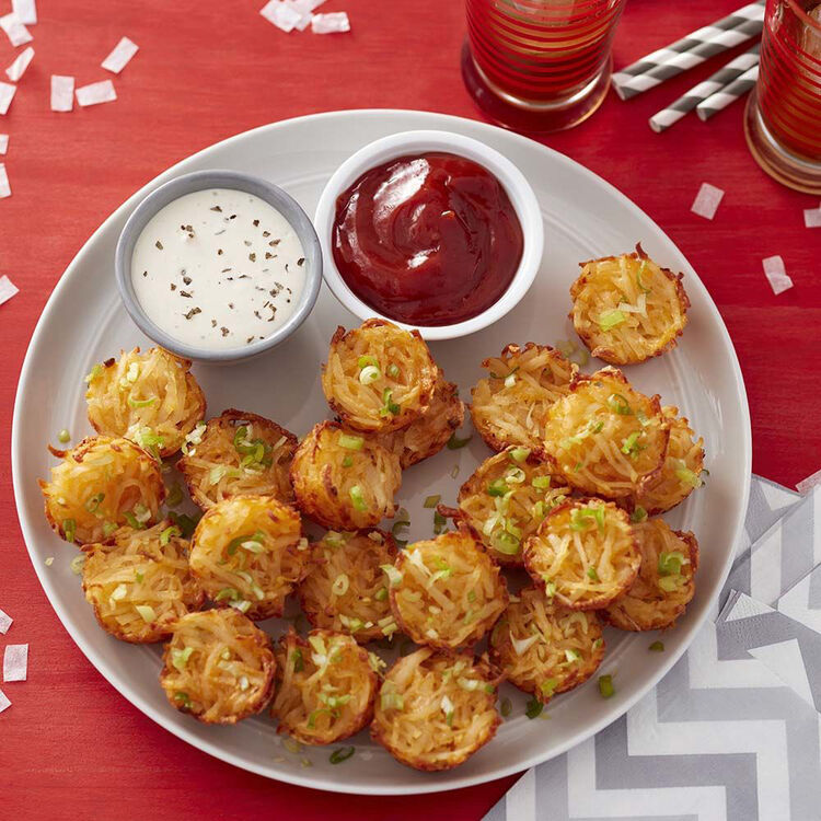 Cheesy Muffin Tin Potato Tots Recipe