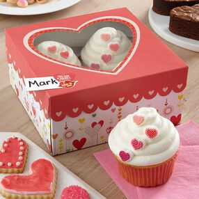 Tiny Hearts Valentine Cupcakes