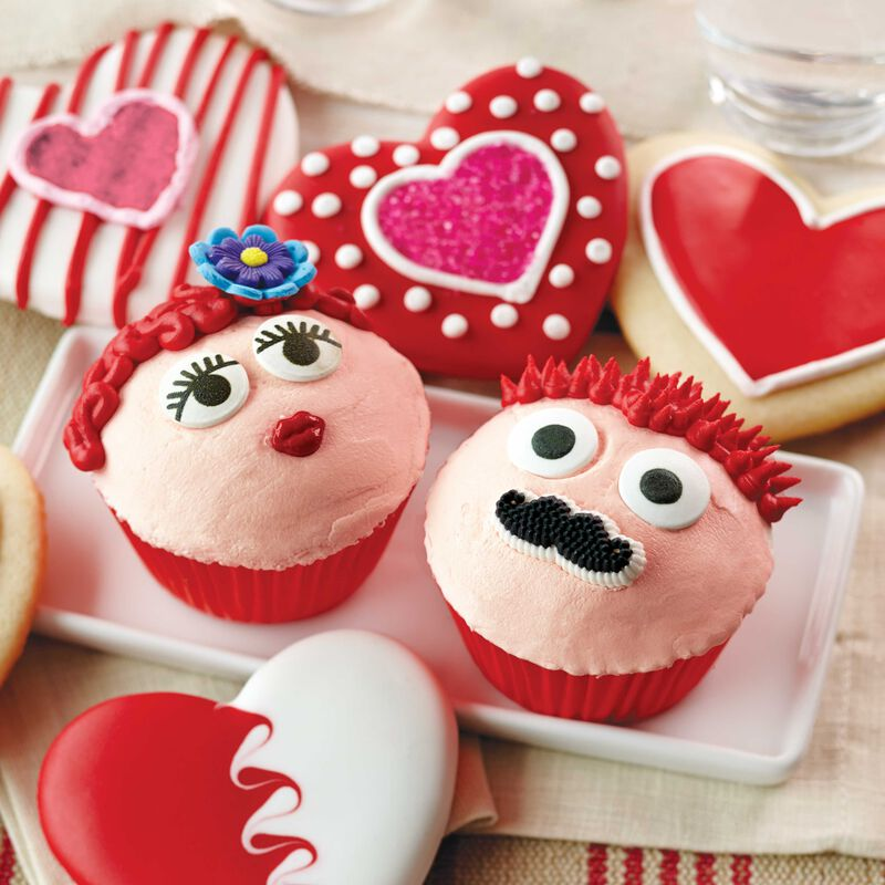 His and Hers Valentine's Day Cupcakes image number 0