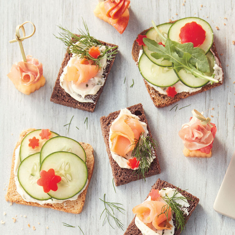 Herb Butter and Cucumber Tea Sandwiches Recipe